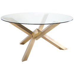 Nuevo Gold Stainless Costa Dining Table