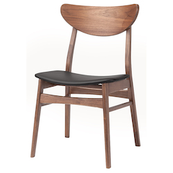 Nuevo Walnut|Black Colby Dining Chair