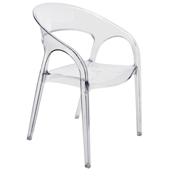 Nuevo Clear Vapour Dining Chair
