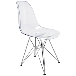 Nuevo Clear Lucent Dining Chair