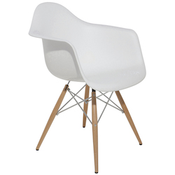 Nuevo White Earnest Dining Chair