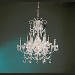 Crystorama Traditional Crystal 6 Light Elements Crystal Brass Chandelier Ii