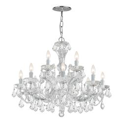Crystorama Maria Theresa 12 Light Clear Crystal Chandelier