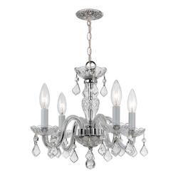 Crystorama 3 Light Clear Crystal Chrome Mini Chandelier I