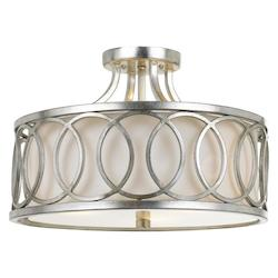 Crystorama Libby Langdon For  Graham 3 Lt Ant Silver Ceiling Mount