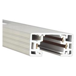 WAC US H Series 4 Foot Track With 2 Endcaps - White