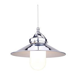 WAC US Freeport Led Monopoint Pendant - Chrome Shade With Brushed Nickel Socket Set, Ca