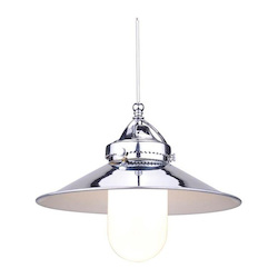 WAC US Freeport Led Monopoint Pendant - Chrome Shade With Chrome Socket Set, Canopy Inc