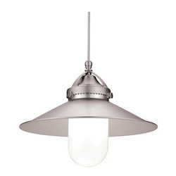 WAC US Freeport Quick Connect Led Pendant - Brushed Nickel Shade With Dark Bronze Socke