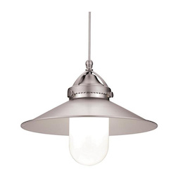 WAC US Freeport Quick Connect Led Pendant - Brushed Nickel Shade With Chrome Socket Set
