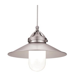 WAC US Freeport Led Monopoint Pendant - Brushed Nickel Shade With Chrome Socket Set, Ca