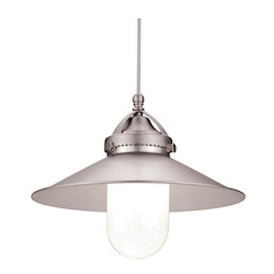WAC US Freeport Led Monopoint Pendant - Brushed Nickel Shade With Dark Bronze Socket Se