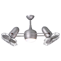 Dagny With Light Kit-Brushed Nickel-Metal Blades
