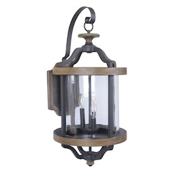 Craftmade Outdoor Three Light Extra Large Wall Sconce