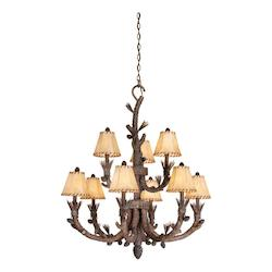 Vaxcel International Aspen 9L Chandelier Finish W/ Shades
