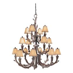 Vaxcel International Aspen 16L Chandelier Finish W/ Shades
