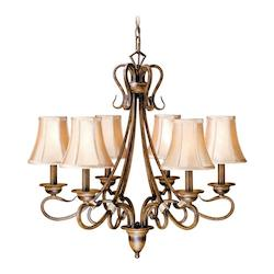Vaxcel International Berkeley 6L Chandelier Aged Walnut