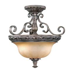 Vaxcel International Bellagio Semi Flush Ceiling Light