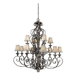 Vaxcel International Bellagio 12L Chandelier