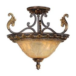 Vaxcel International Caesar Semi Flush Ceiling Light
