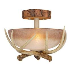 Vaxcel International Lodge 12In. Semi Flush Ceiling Light