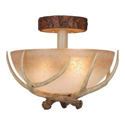 Vaxcel International Lodge 16In. Semi Flush Ceiling Light