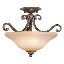Vaxcel International Monrovia Semi Flush Ceiling Light In Rbz