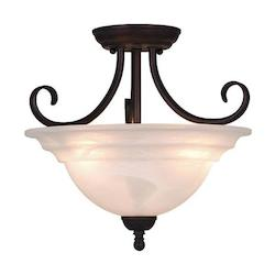 Vaxcel International Babylon 14In. Semi Flush (Duo-Mount) Obb