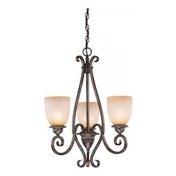 Vaxcel International Mont Blanc 3 Light Chandelier