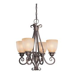 Vaxcel International Mont Blanc 4 Light Chandelier