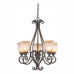 Vaxcel International Mont Blanc 5 Light Chandelier