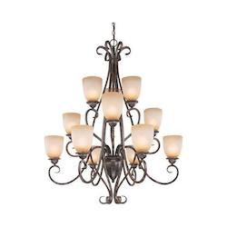 Vaxcel International Mont Blanc 12 Light Chandelier