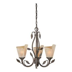 Vaxcel International Capri 3L Chandelier W/ Excavation Glass