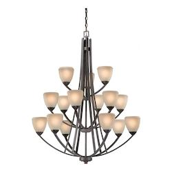 Vaxcel International Helsinki 15L Chandelier