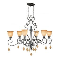 Vaxcel International Montmarte 6L Oval Chandelier