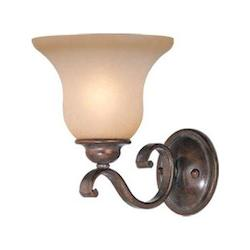 Vaxcel International Monrovia 1 Light Wall Light In Rbz