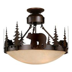 Vaxcel International Bozeman 18In. Semi-Flush Ceiling Light