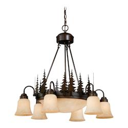 Vaxcel International Yosemite 9L Chandelier
