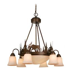 Vaxcel International Yellowstone 9L Chandelier