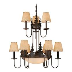 Vaxcel International Bozeman 12L Chandelier