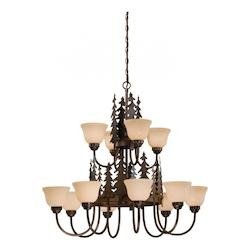 Vaxcel International Yosemite 12L Chandelier