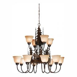 Vaxcel International Yellowstone 12L Chandelier