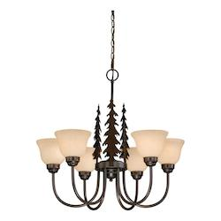 Vaxcel International Yosemite 6L Chandelier
