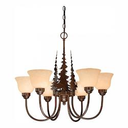 Vaxcel International Yellowstone 6L Chandelier