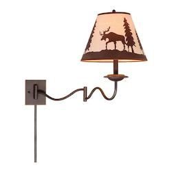 Vaxcel International Yellowstone 12In. Swing Arm Wall Light