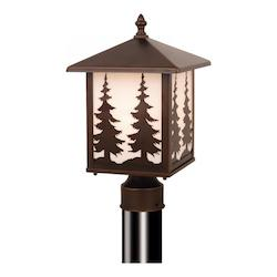 Vaxcel International Yosemite Outdoor Post Light (Trees)