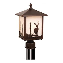 Vaxcel International Bryce Outdoor Post Light (Deer)