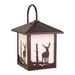 Vaxcel International Bryce 8In. Outdoor Wall Light Bbz (Deer)