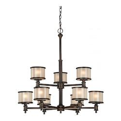 Vaxcel International Carlisle 9L Chandelier