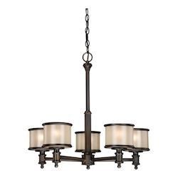 Vaxcel International Carlisle 5L Chandelier